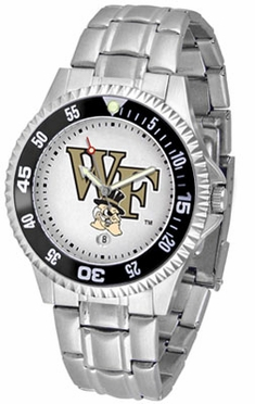 Wake Forest Competitor Men's Steel Band Watch