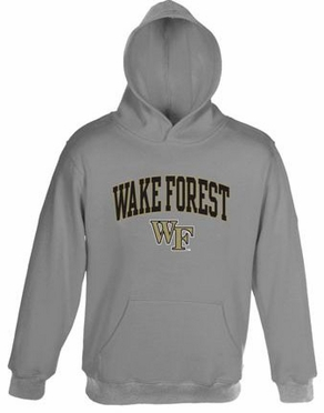 Wake Forest Embroidered Hooded Sweatshirt (Grey)