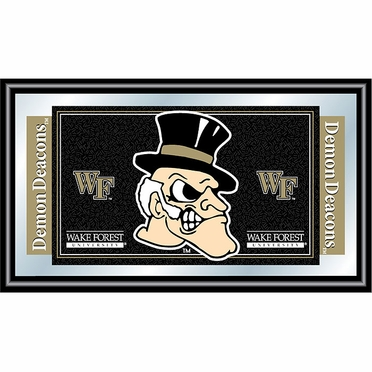 Wake Forest Framed Logo Mascot Bar Mirror