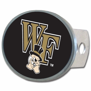 Wake Forest Oval Metal Hitch Cover