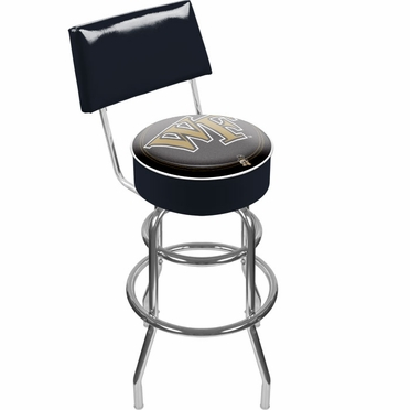 Wake Forest Padded Bar Stool with Back