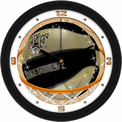Wake Forest Slam Dunk Wall Clock