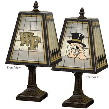 Wake Forest Small Art Glass Lamp
