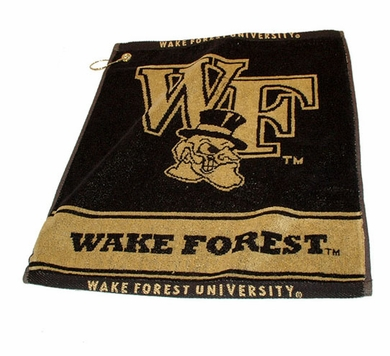 Wake Forest Woven Golf Towel