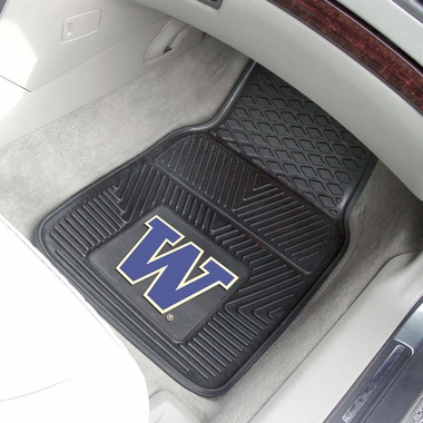 Washington 2 Piece Heavy Duty Vinyl Car Mats