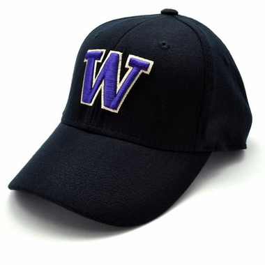 Washington Black Premium FlexFit Baseball Hat