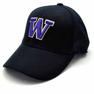 Washington Black Premium FlexFit Baseball Hat - Large / X-Large