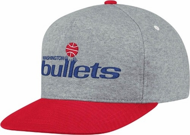 Washington Bullets Heather Pinch Panel Snap Back Hat