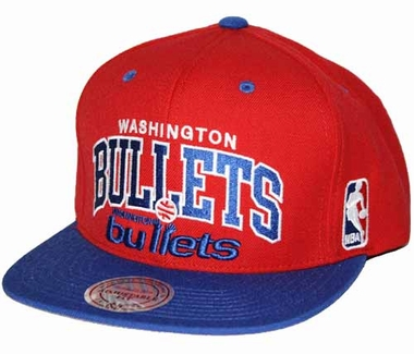 Washington Bullets Team Arch Snapback Hat