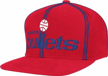 Washington Bullets ThrowBack Double Soutache Snap Back Hat