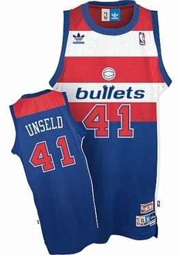 Washington Bullets Wes Unseld Adidas Team Color Throwback Replica Premiere Jersey