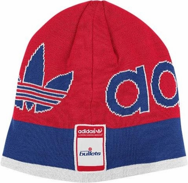 Washington Bulletts Throwback Striped Knit Hat