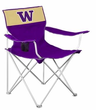 Washington Canvas Adult Folding Logo Chair