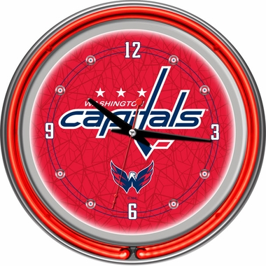 Washington Capitals 14 Inch Neon Clock