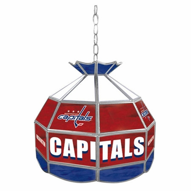 Washington Capitals 16 Inch Diameter Stained Glass Pub Light