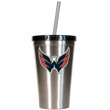 Washington Capitals 16oz Stainless Steel Insulated Tumbler with Straw