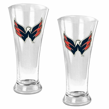 Washington Capitals 2 Piece Pilsner Glass Set