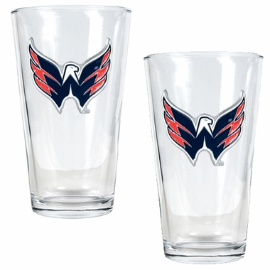 Washington Capitals 2 Piece Pint Glass Set