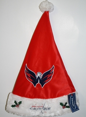 Washington Capitals 2012 Team Logo Plush Santa Hat