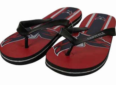 Washington Capitals 2012 Unisex Big Logo Flip Flops - Medium