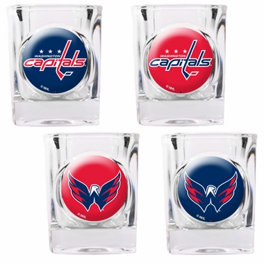 Washington Capitals 4 Piece Assorted Shot Glass Set