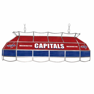 Washington Capitals 40 Inch Rectangular Stained Glass Billiard Light