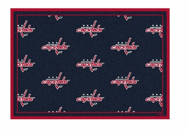 "Washington Capitals 5'4"" x 7'8"" Premium Pattern Rug"