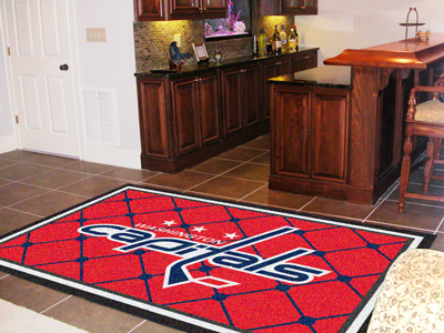 Washington Capitals 5 Foot x 8 Foot Rug