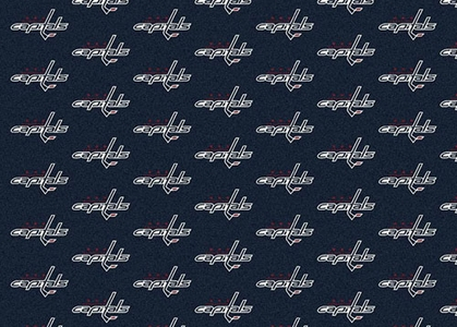 "Washington Capitals 7'8 x 10'9"" Premium Pattern Rug"