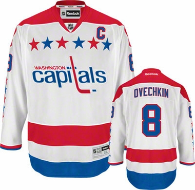 Washington Capitals Alex Ovechkin Team Color Premier Jersey