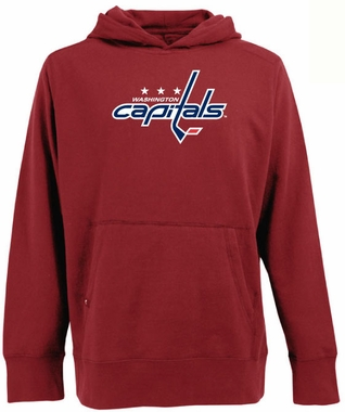 Washington Capitals Big Logo Mens Signature Hooded Sweatshirt (Team Color: Red)