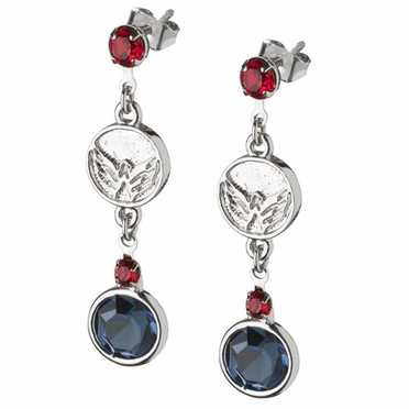 Washington Capitals Crystal Logo Dangle Earrings