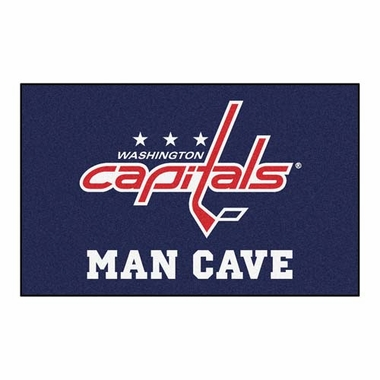 Washington Capitals Economy 5 Foot x 8 Foot Man Cave Mat