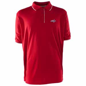 Washington Capitals Mens Elite Polo Shirt (Team Color: Red) - Large