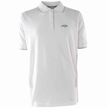 Washington Capitals Mens Elite Polo Shirt (Color: White)