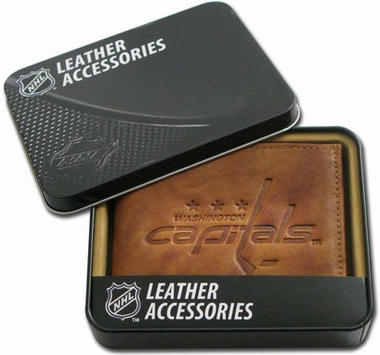 Washington Capitals Embossed Leather Bifold Wallet