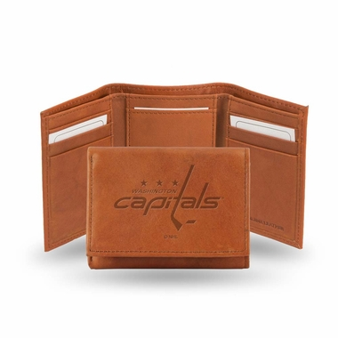 Washington Capitals Embossed Leather Trifold Wallet