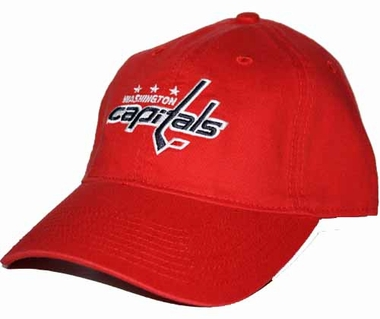 Washington Capitals Logo Team Slouch Adjustable Hat