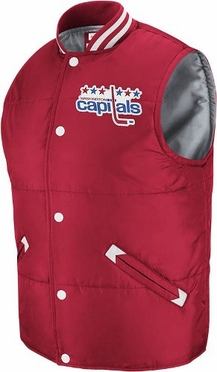 Washington Capitals Mitchell & Ness Throwback Snap Vest