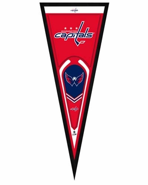 "Washington Capitals Pennant Frame - 13"" x 33"" (No Glass)"