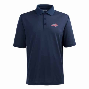 Washington Capitals Mens Pique Xtra Lite Polo Shirt (Alternate Color: Navy)
