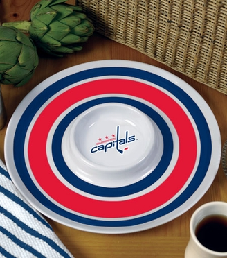 Washington Capitals Plastic Chip and Dip Plate