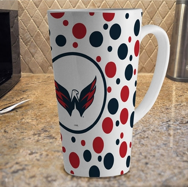 Washington Capitals Polkadot 16 oz. Ceramic Latte Mug
