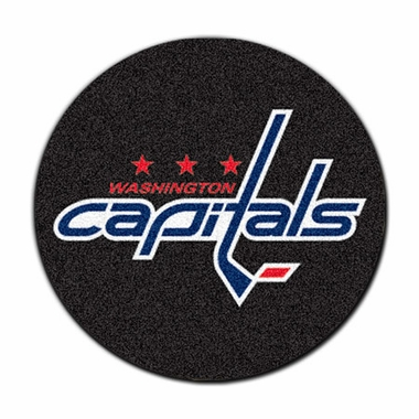 Washington Capitals 27 Inch Puck Shaped Rug