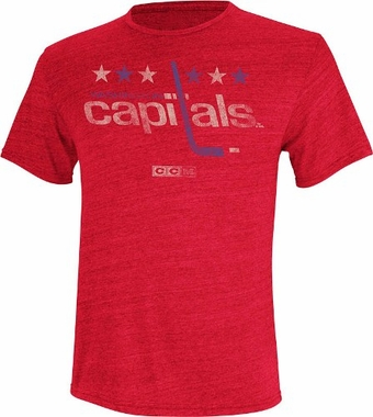 Washington Capitals Retro Logo Distressed Tri-Blend T-Shirt