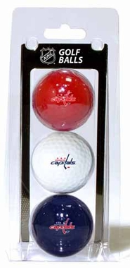 Washington Capitals Set of 3 Multicolor Golf Balls