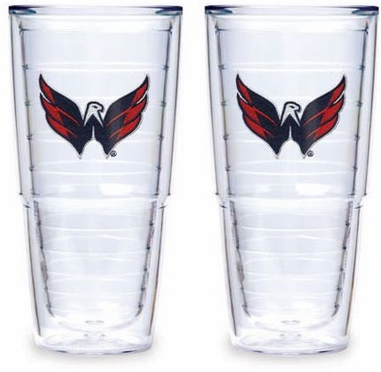 "Washington Capitals Set of TWO 24 oz. ""Big T"" Tervis Tumblers"