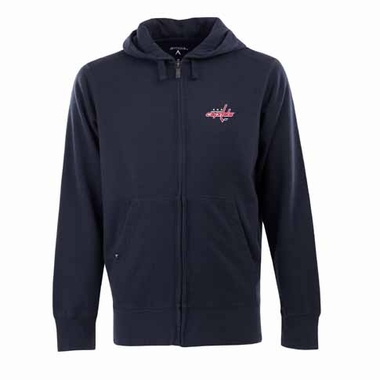 Washington Capitals Mens Signature Full Zip Hooded Sweatshirt (Color: Navy)