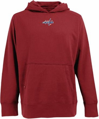 Washington Capitals Mens Signature Hooded Sweatshirt (Team Color: Red)