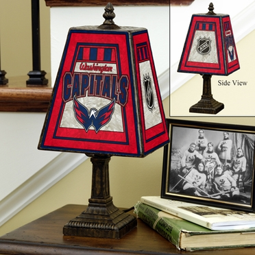 Washington Capitals Small Art Glass Lamp